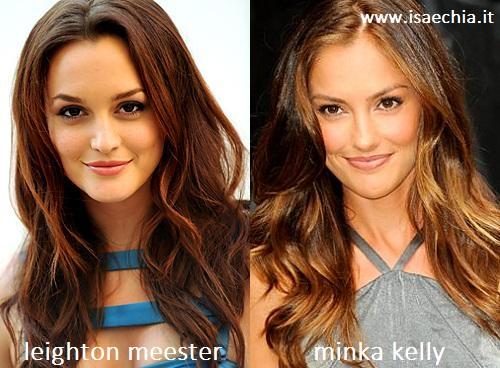 Somiglianza tra Leighton Meester e Minka Kelly