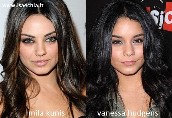 Somiglianza tra Mila Kunis e Vanessa Hudgens