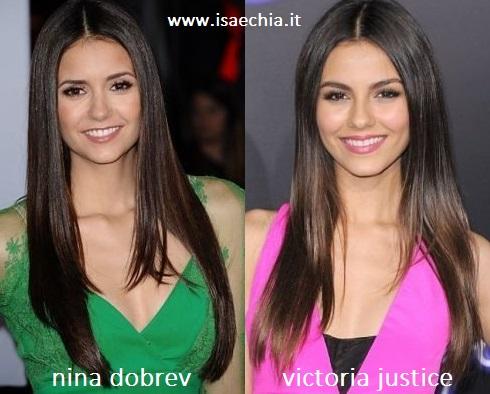Somiglianza tra Nina Dobrev e Victoria Justice