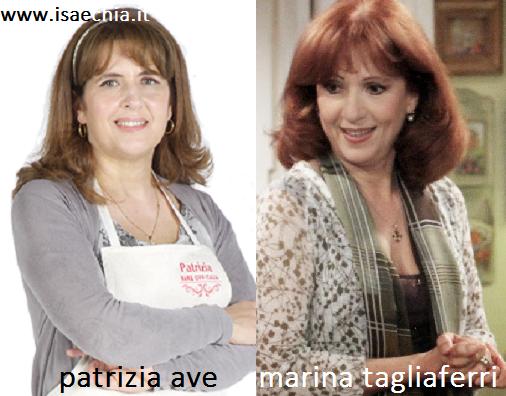 Somiglianza tra Patrizia Ave e Marina Tagliaferri