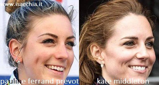 Somiglianza tra Pauline Ferrand Prevot e Kate Middleton