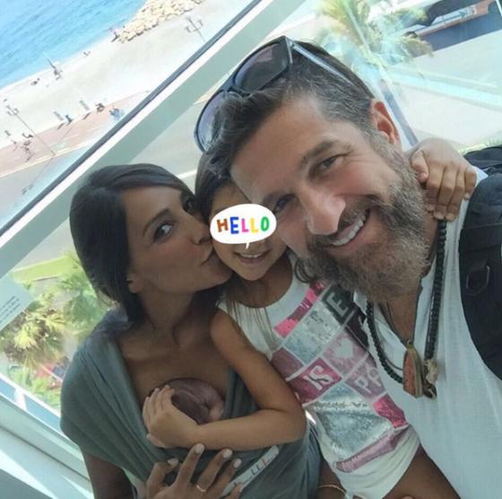 Juliana Moreira, Edoardo Stoppa, Lua Sophie e Sol Gabriel