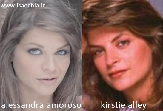 Somiglianza tra Alessandra Amoroso e Kirstie Alley