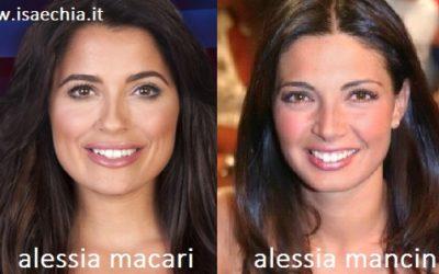 Somiglianza tra Alessia Macari e Alessia Mancini