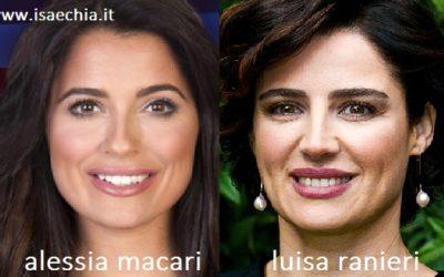 Somiglianza tra Alessia Macari e Luisa Ranieri