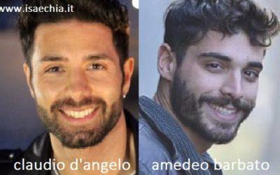 Somiglianza tra Claudio D'Angelo e Amedeo Barbato