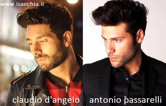 Somiglianza tra Claudio D'Angelo e Antonio Passarelli