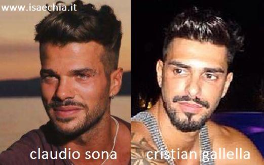 Somiglianza tra Claudio Sona e Cristian Gallella
