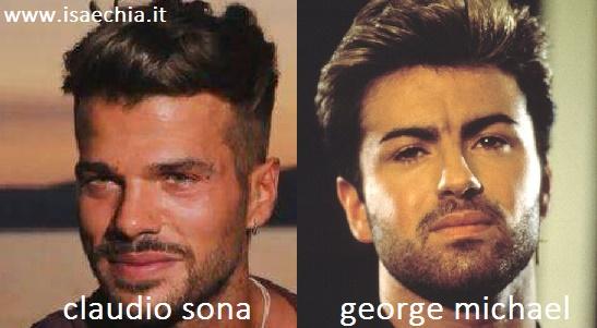 Somiglianza tra Claudio Sona e George Michael