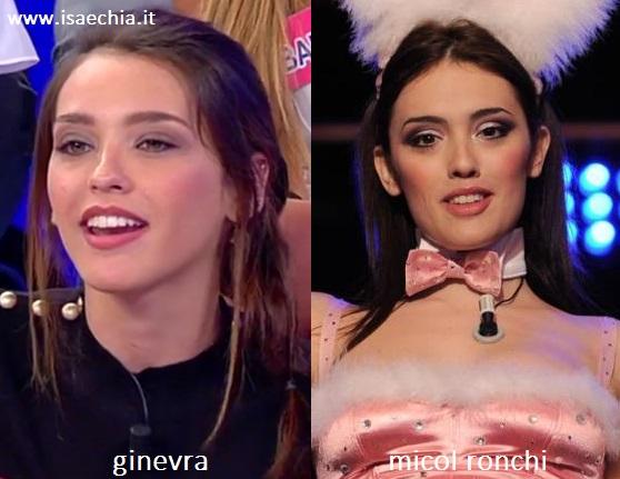 Somiglianza tra Ginevra e Micol Ronchi