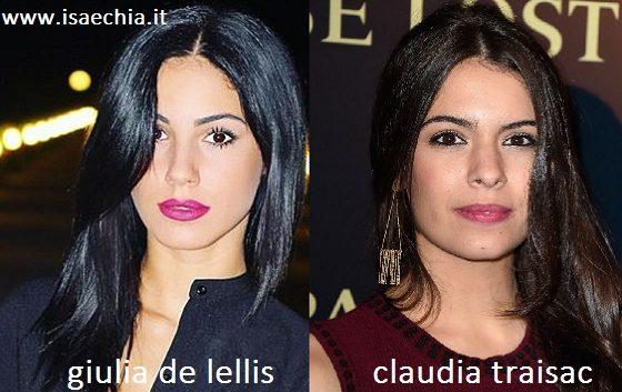 Somiglianza tra Giulia De Lellis e Claudia Traisac