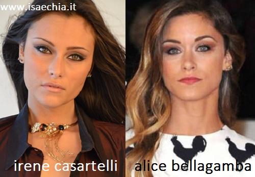 Somiglianza tra Irene Casartelli e Alice Bellagamba