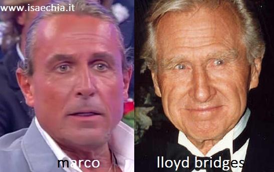 Somiglianza tra Marco e Lloyd Bridges