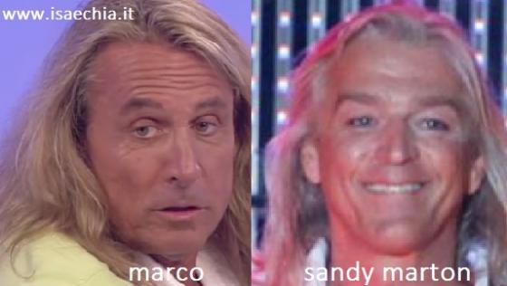 Somiglianza tra Marco e Sandy Marton