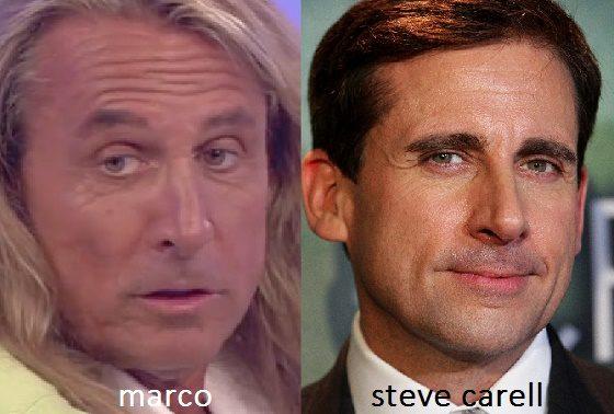 Somiglianza tra Marco e Steve Carell