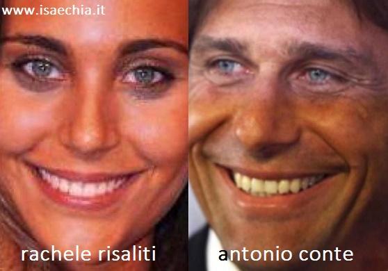 Somiglianza tra Rachele Risaliti e Antonio Conte