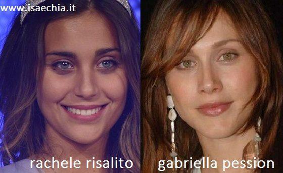 Somiglianza tra Rachele Risaliti e Gabriella Pession