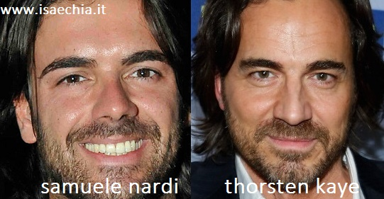 Somiglianza tra Samuele Nardi e Thorsten Kaye