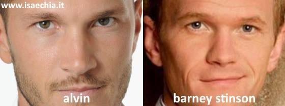 Somiglianza tra Alvin e Barney Stinson