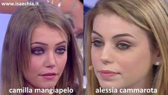 Somiglianza tra Camilla Mangiapelo e Alessia Cammarota