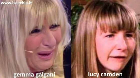 Somiglianza tra Gemma Galgani e Lucy Camden di 'Settimo cielo'