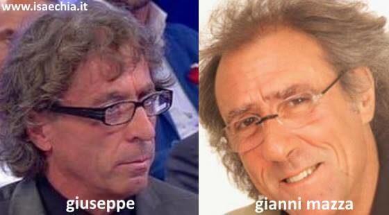 Somiglianza tra Giuseppe e Gianni Mazza