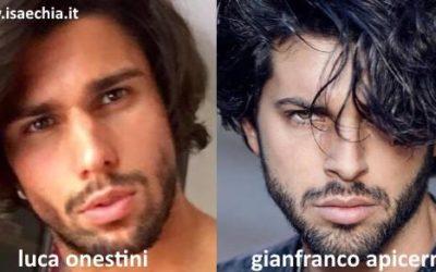 Somiglianza tra Luca Onestini e Gianfranco Apicerni