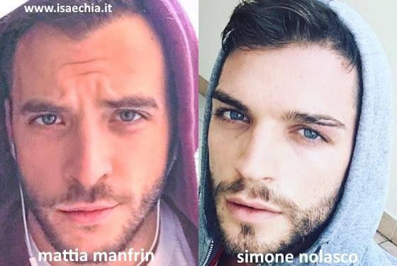 Somiglianza tra Mattia Manfrin e Simone Nolasco