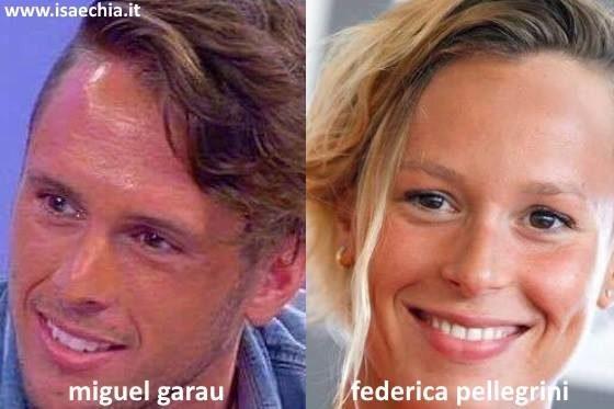 Somiglianza tra Miguel Garau e Federica Pellegrini