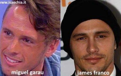 Somiglianza tra Miguel Garau e James Franco