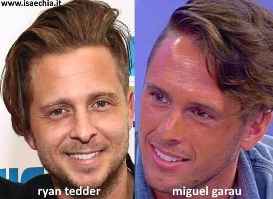 Somiglianza tra Miguel Garau e Ryan Tedder