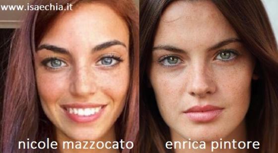 Somiglianza tra Nicole Mazzocato e Enrica Pintore