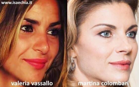 Somiglianza tra Valeria Vassallo e Martina Colombari
