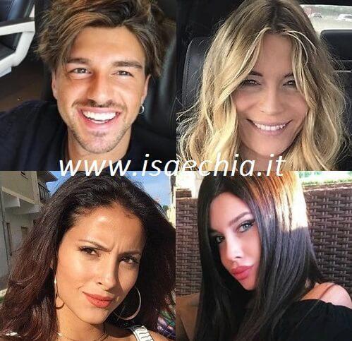 Andrea Damante, Elenoire Casalegno, Mariana Rodriguez e Asia Nuccetellli