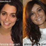 Somiglianza tra Alessia Macari e Alessandra Pierelli