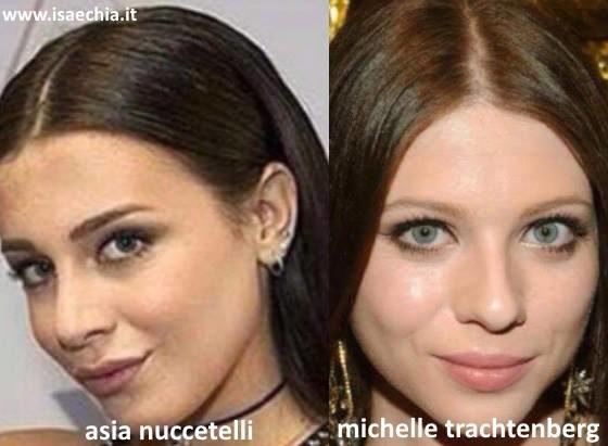 Somiglianza tra Asia Nuccetelli e Michelle Trachtenberg