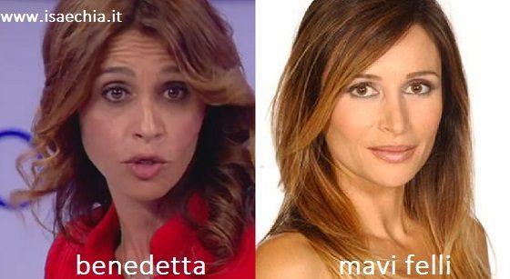 Somiglianza tra Benedetta e Mavi Felli