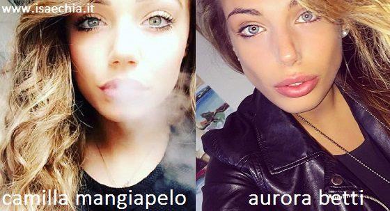 Somiglianza tra Camilla Mangiapelo e Aurora Betti