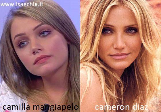 Somiglianza tra Camilla Mangiapelo e Cameron Diaz