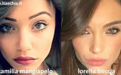 Somiglianza tra Camilla Mangiapelo e Lorella Boccia