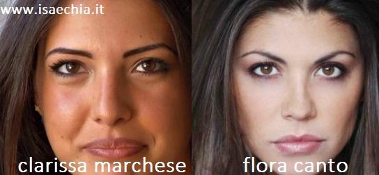 Somiglianza tra Clarissa Marchese e Flora Canto