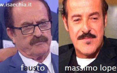 Somiglianza tra Fausto e Massimo Lopez