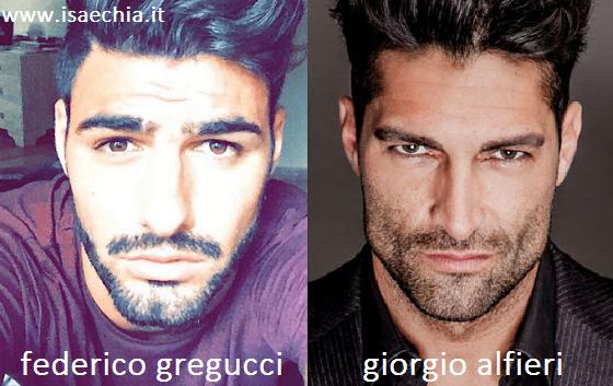 Somiglianza tra Federico Gregucci e Giorgio Alfieri