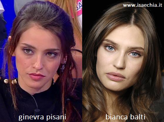Somiglianza tra Ginevra Pisani e Bianca Balti