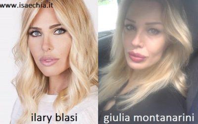 Somiglianza tra Ilary Blasi e Giulia Montanarini
