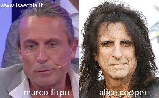 Somiglianza tra Marco Firpo e Alice Cooper
