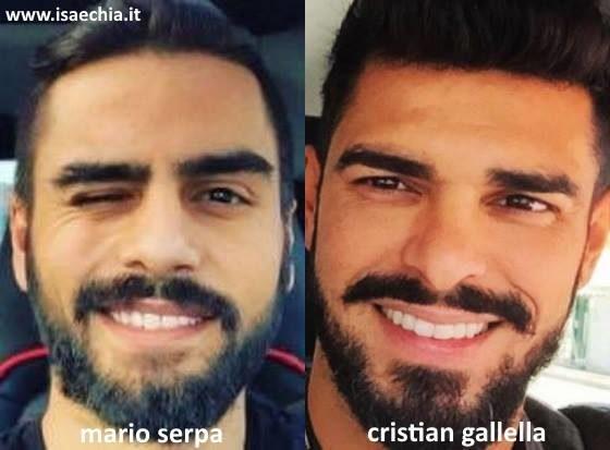 Somiglianza tra Mario Serpa e Cristian Gallella