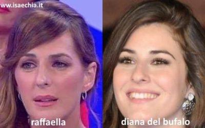 Somiglianza tra Raffaella e Diana Del Bufalo