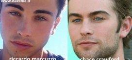 Somiglianza tra Riccardo Marcuzzo e Chace Crawford