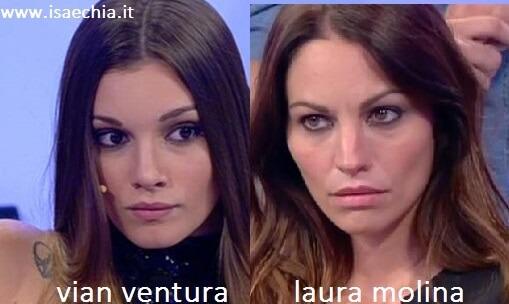 Somiglianza tra Vian Ventura e Laura Molina
